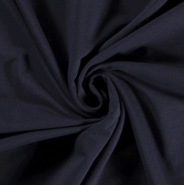 French terry RECYCLED navy blauw