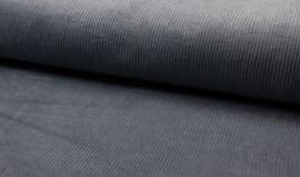 Corduroy dikke ribbel grijsblauw