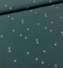 Viscose Scala birds petrol