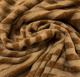 Chenille golden stripes