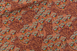 Canvas - Gilly Flowers Sunburn Brown