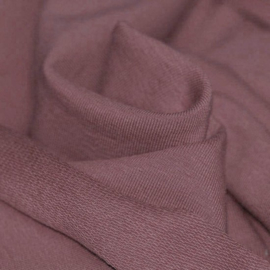French Terry organic old mauve