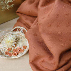 Diamond chestnut viscose