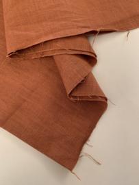 Stonewashed linnen rusty brown