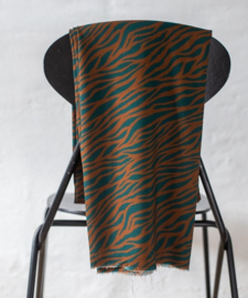 Viscose Zebra Teal-Gold