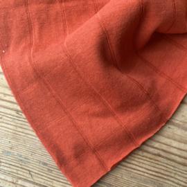 Double gauze tricot oranje-rood