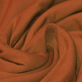 Uni GOTS tricot - Terracotta