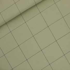 French Terry Grid tea green