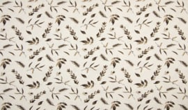 Tricot dusty leaves taupe