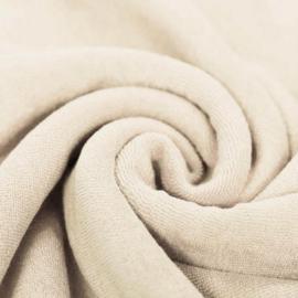 Rekbare badstof natural beige