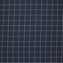 Viscose grid blauw