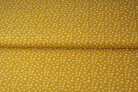 Tricot little flowers ochre Stenzo