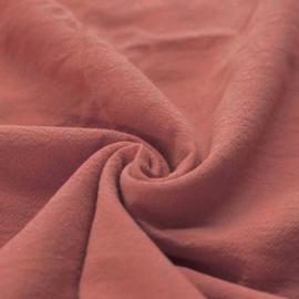 Gewassen katoen clay pink