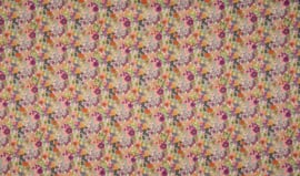 Voile popeline digital flowers multicolour