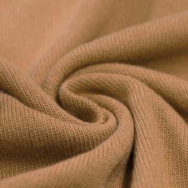 Cotton knit camel