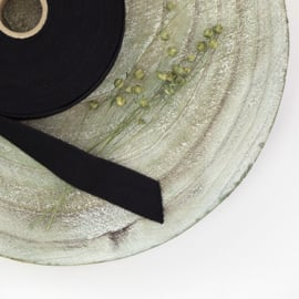 Twill tape zwart (prijs per meter)