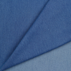 Recycled stretch denim raw blue water washed