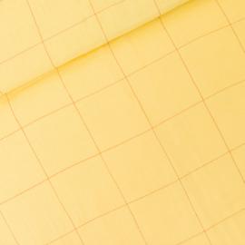 Double gauze thin grid popcorn geel