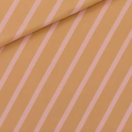 French terry Diagonals XL Fenugreek Brown