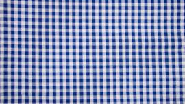 Seersucker blauwe ruit