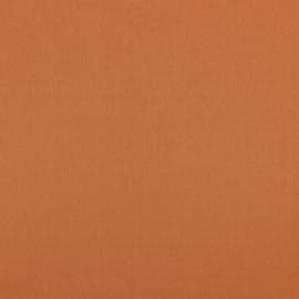 Uni katoen cognac bruin
