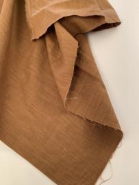 Stonewashed linnen tobacco brown