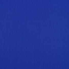 Uni katoen koningsblauw