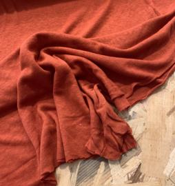 Linen jersey brique