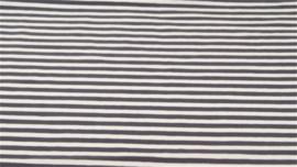Tricot streep grijs