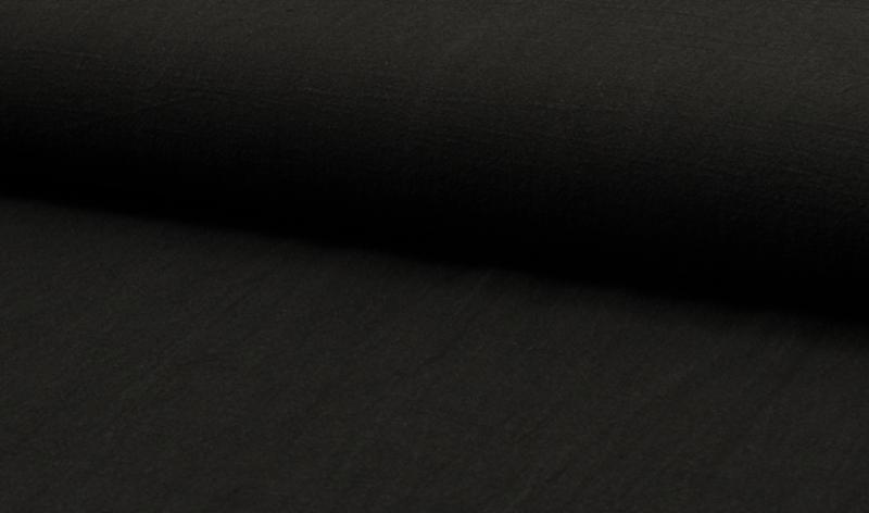 Stonewashed linnen black