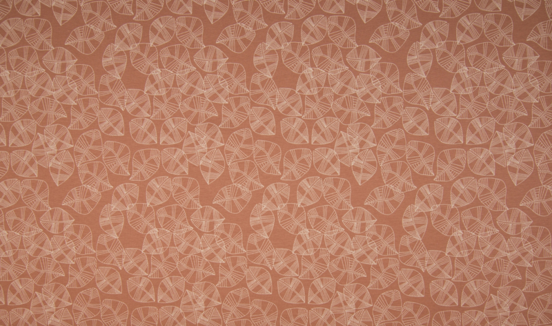 Tricot leaves clay pink