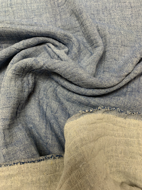 Double gauze chambray light