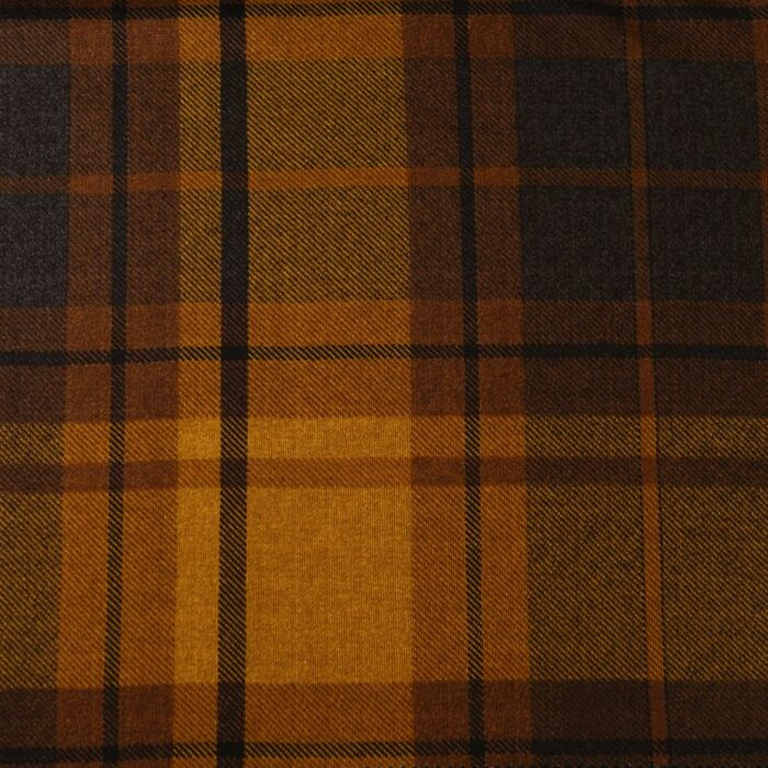 Stevige tricot check brown