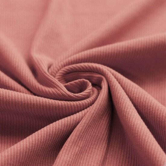 Ribtricot clay pink