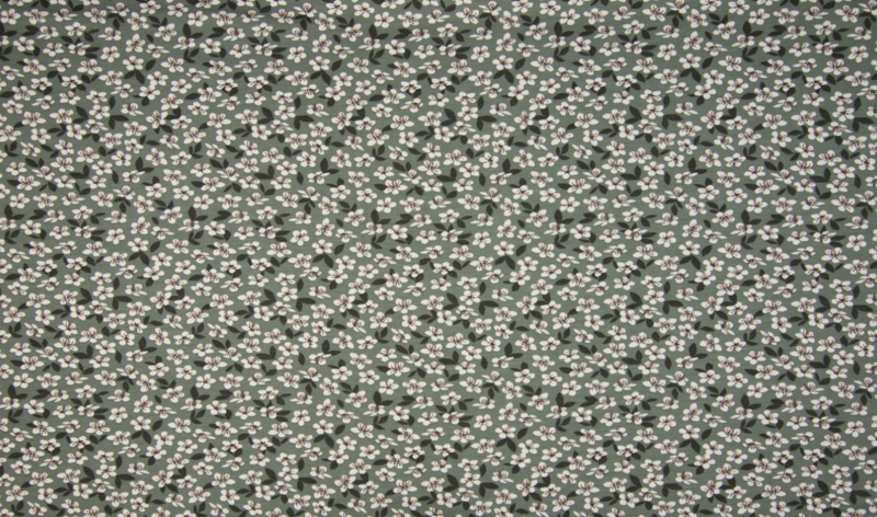 katoentricot flowers dusty green