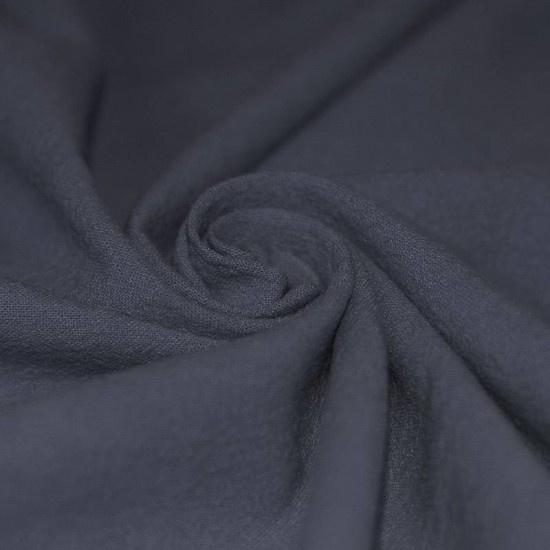 Gewassen katoen grijsblauw