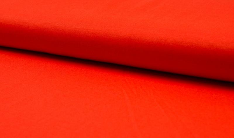 Linnen tricot oranje-rood