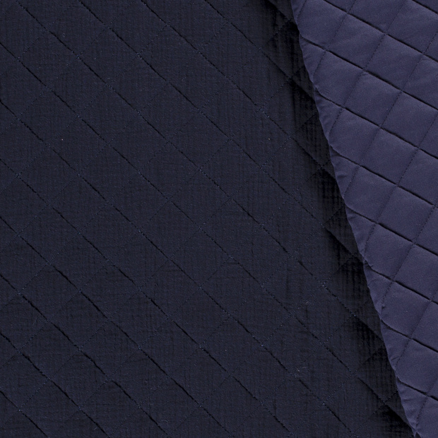 Quilted double gauze navy