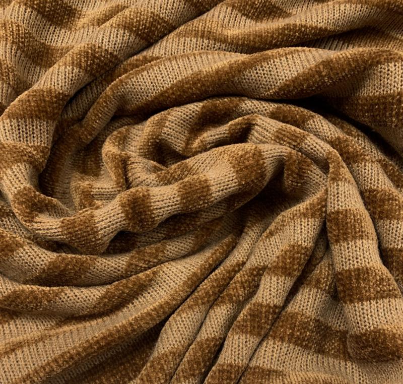 Chenille golden stripes
