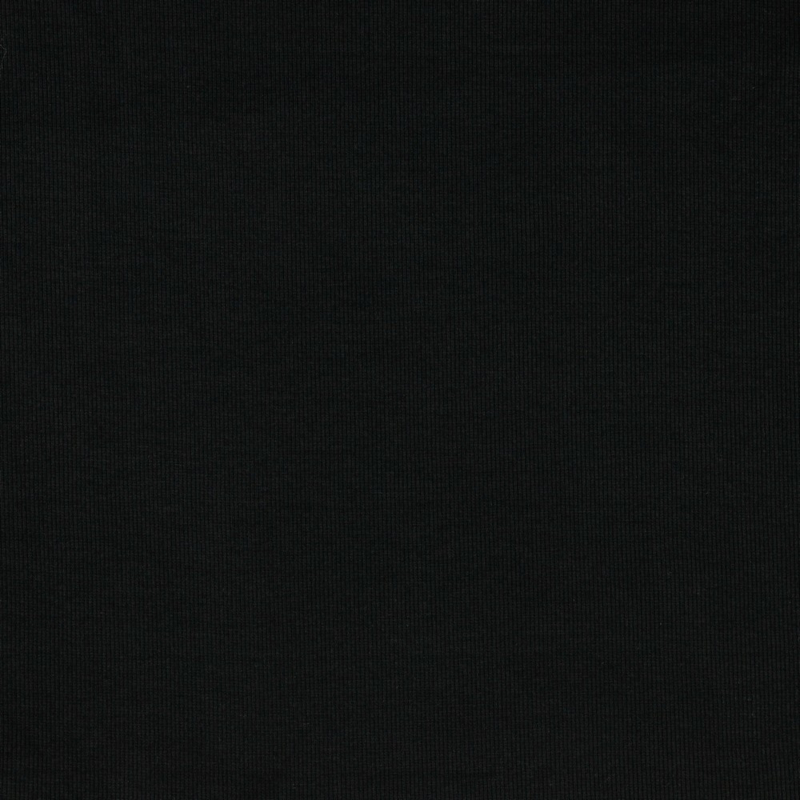 Boordstof zwart dikke rib