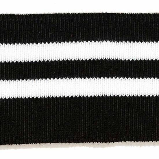Manchettenboord zwart-wit