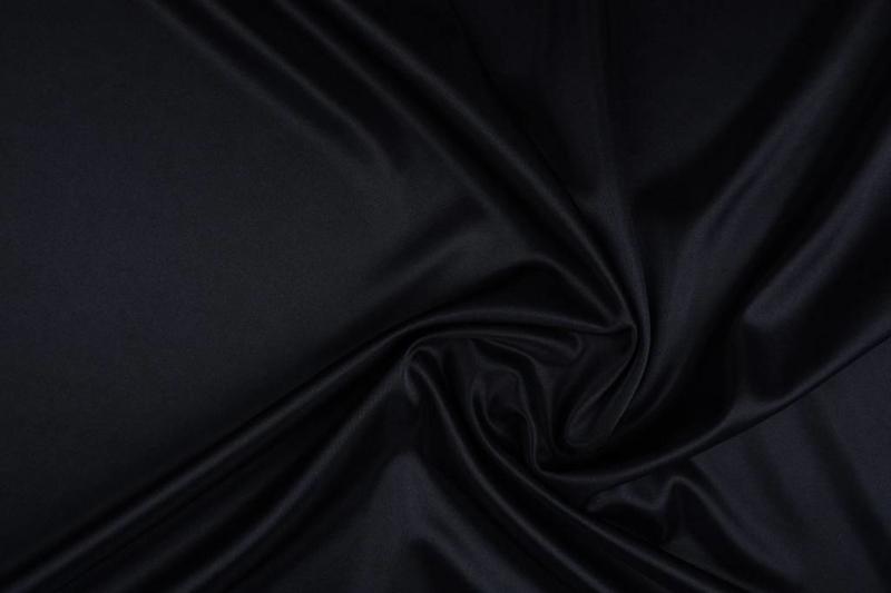 Charmeuse voering zwart