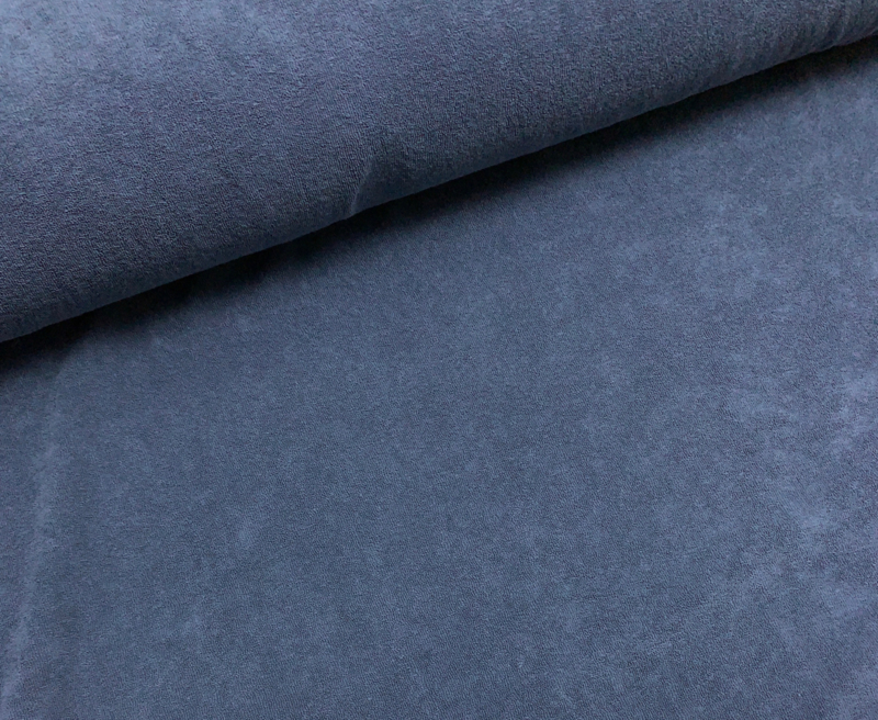 Rekbare badstof blauw