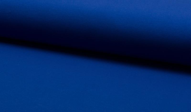 French terry uni koningsblauw