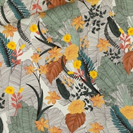 Viscose Rayon Tropic Flowers