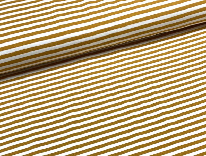 Tricot streep 0,5cm geel