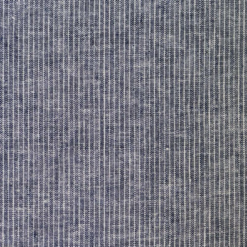 Gewassen linnen denim black stripes