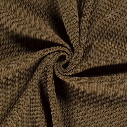 Cotton big knit khaki