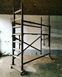 Old wooden scafolding