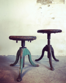Antique industrial stool